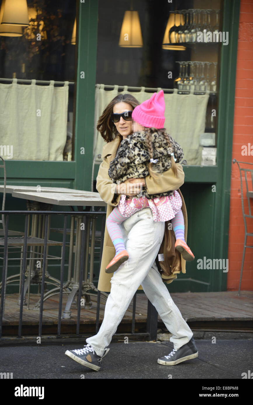 1c16f2a41c1 Sarah Jessica Parker seen taking her children to school Featuring  Sarah  Jessica Parker