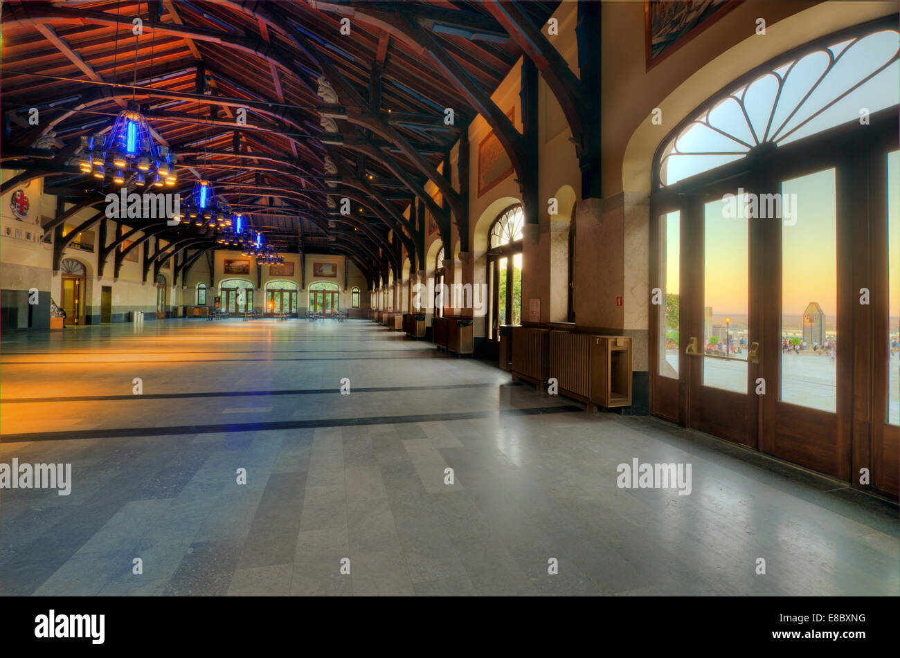 Interior of Mount Royal Chalet, in Montreal - Stock Image