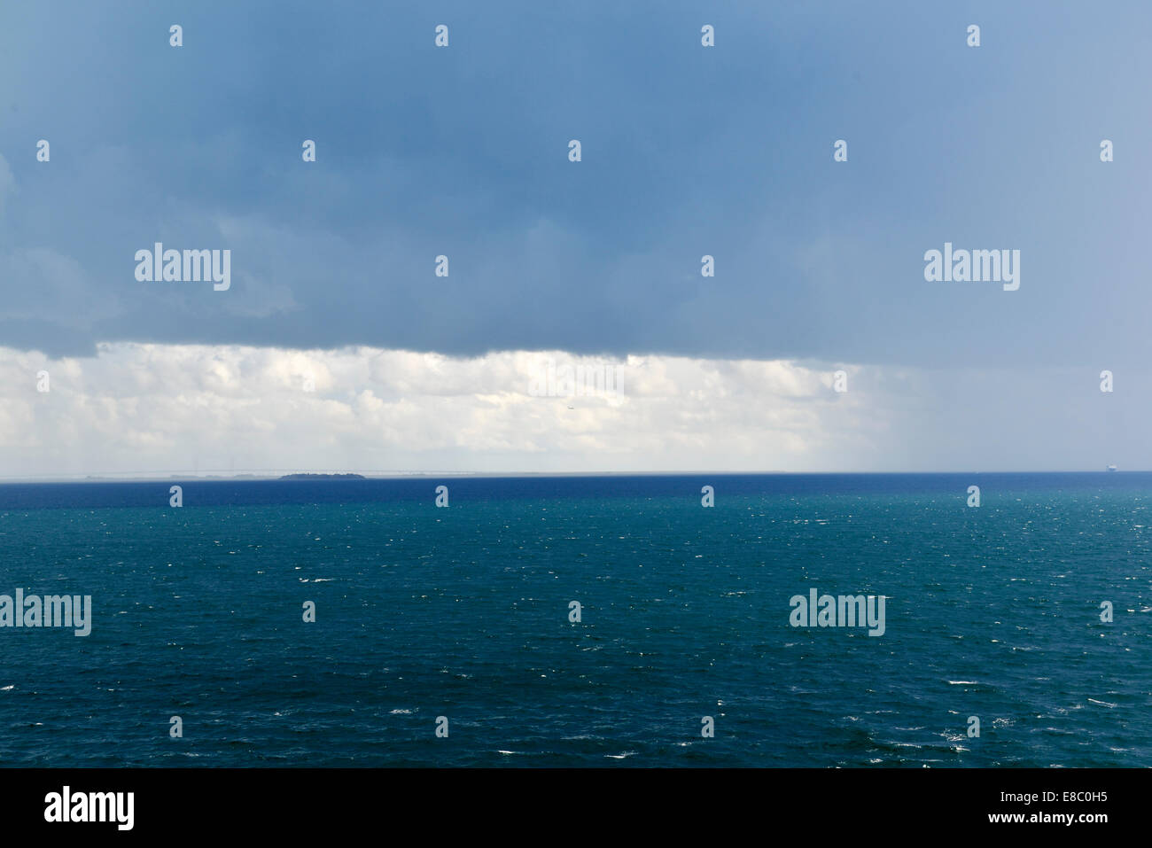 Baltic Sea Squall Line, View from Copenhagen Ferry to Oslo, Norway 140818_62379 - Stock Image