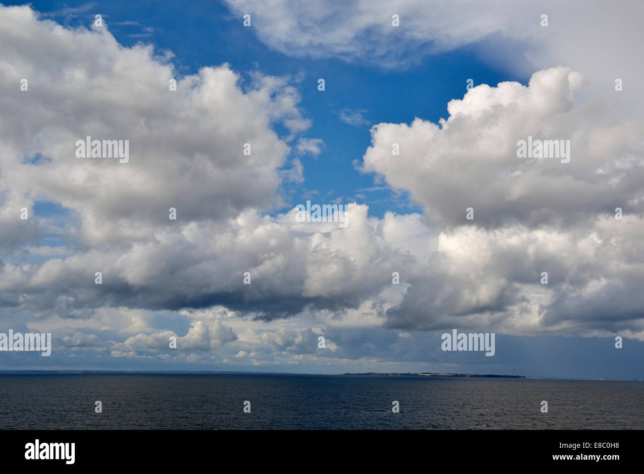 Baltic Sea, View from Copenhagen Ferry to Oslo, Norway 140818_62384 - Stock Image
