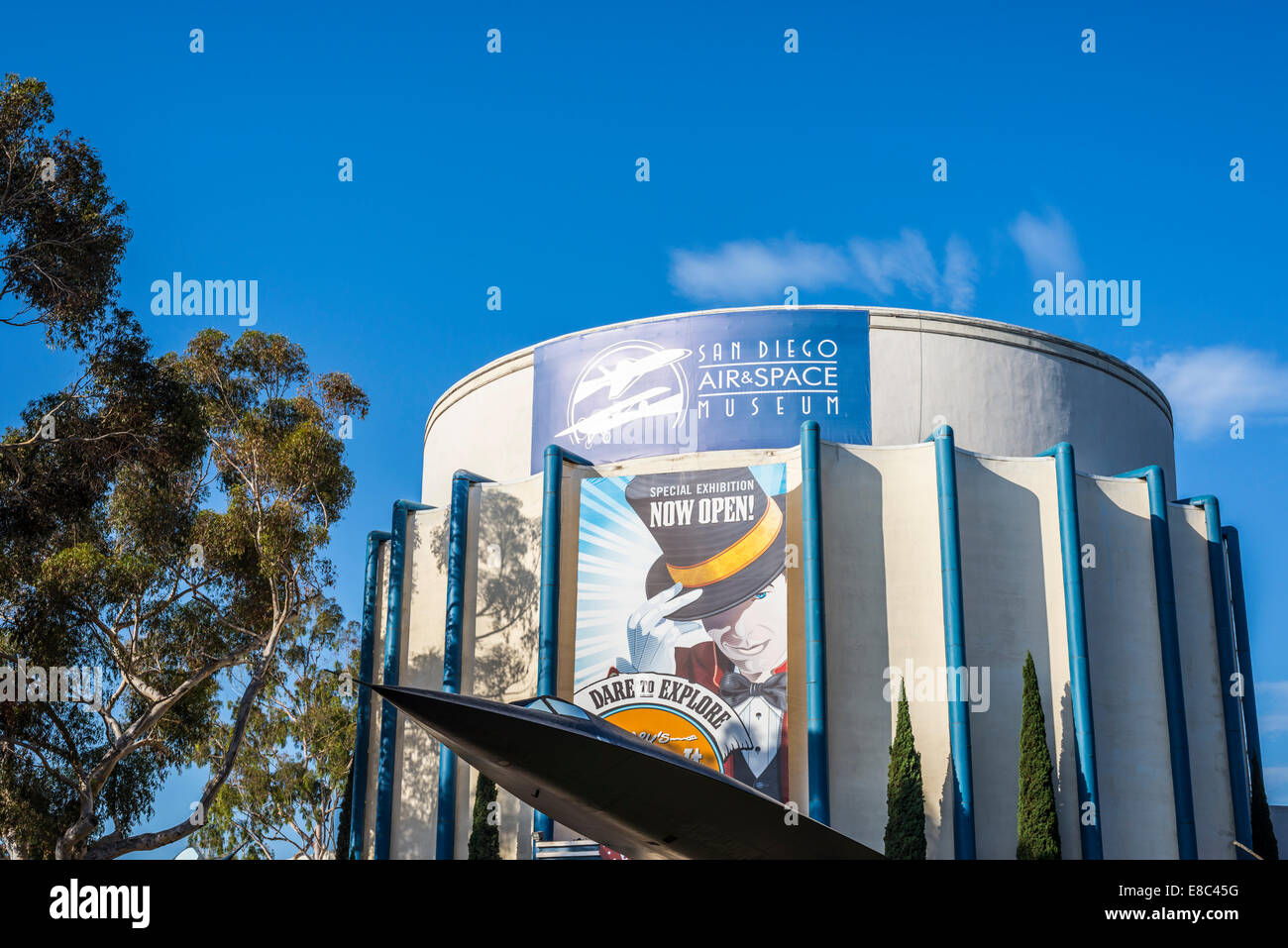 San Diego Air & Space Museum building. Balboa Park, San Diego,California, United States. - Stock Image