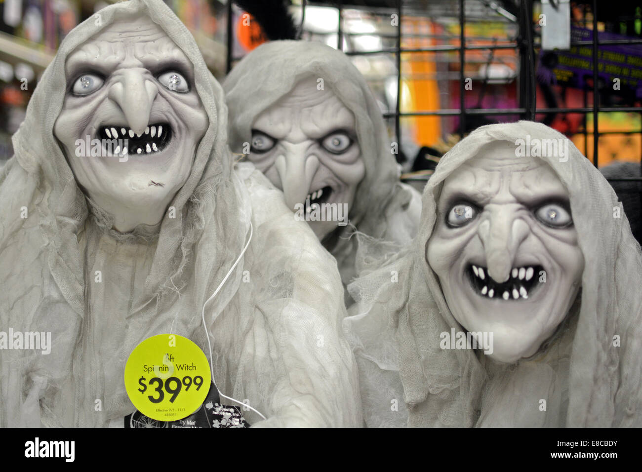 party city halloween store display stock photos & party city