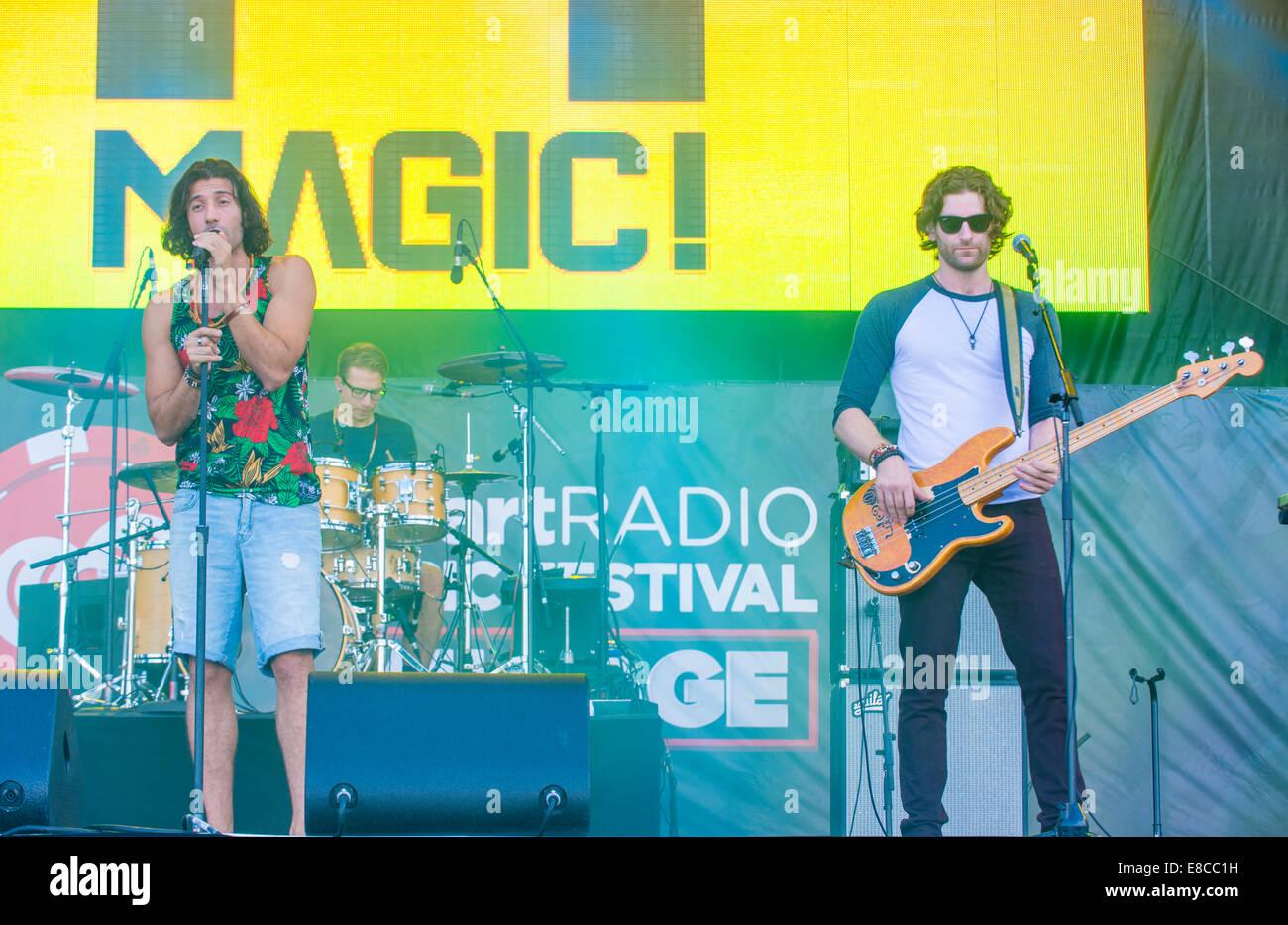 Singer Nasri Atweh and fellow band members of Magic