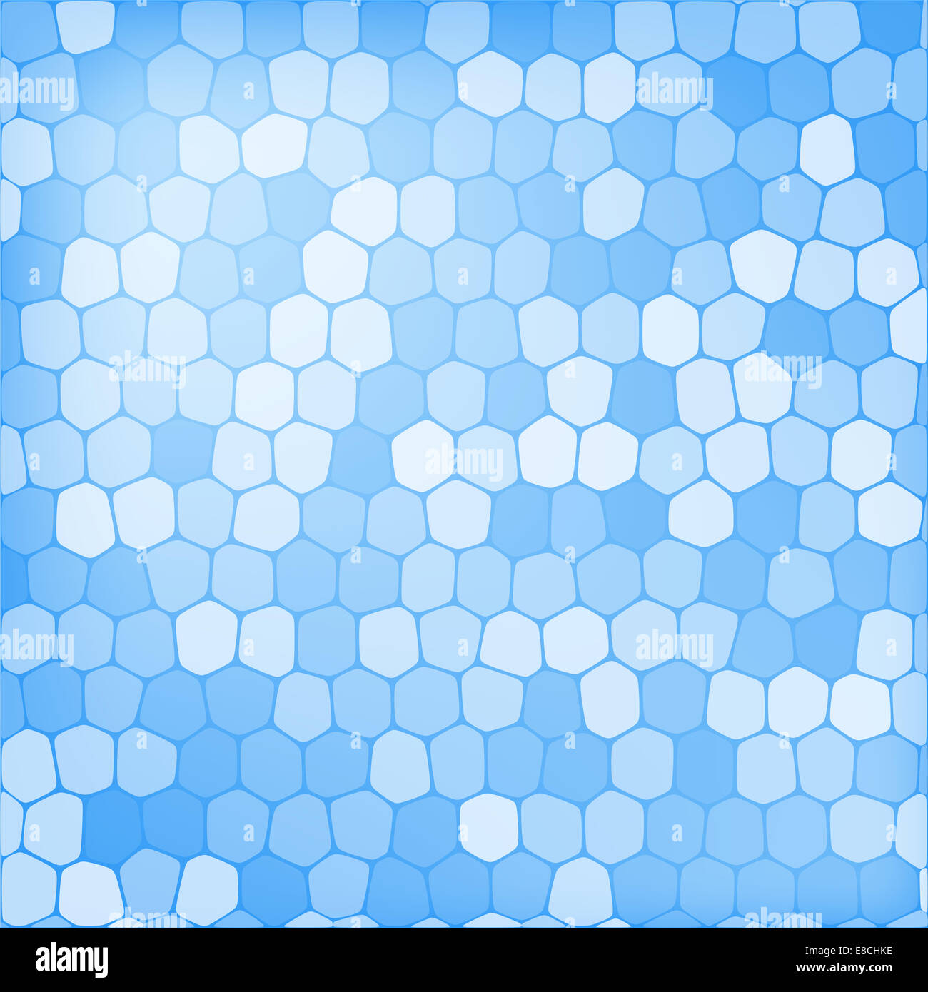 Abstract blue geometric background texture illustration - Stock Image