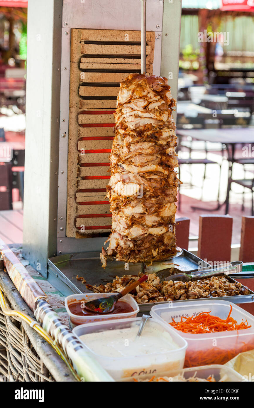 Shawarma is one of the most popular fast food - Stock Image