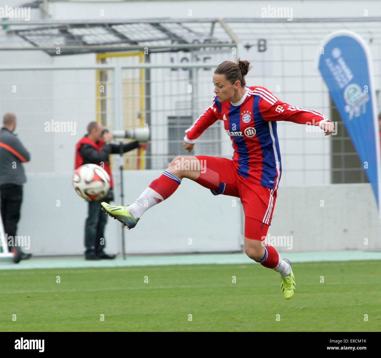 Muenchen, Bavaria, Germany. 5th Oct, 2014. 15 Nora HOLSTAD/NOR/Muenchen, .German woman soccer league, FC Bayern - Stock Image