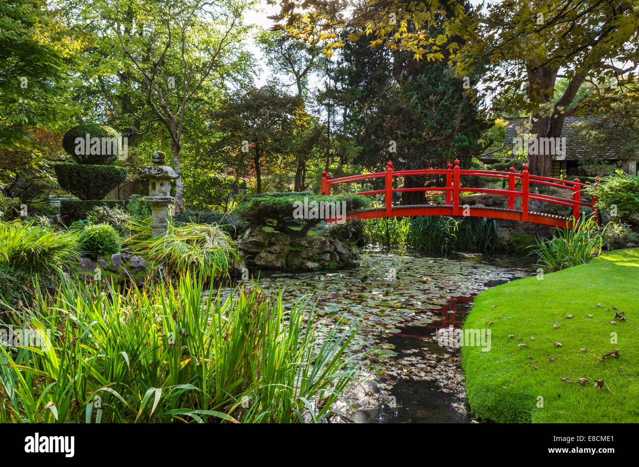The Japanese Gardens at the Irish National Stud breeding facility, Tully, Kildare, County Kildare, Republic of Ireland - Stock Image