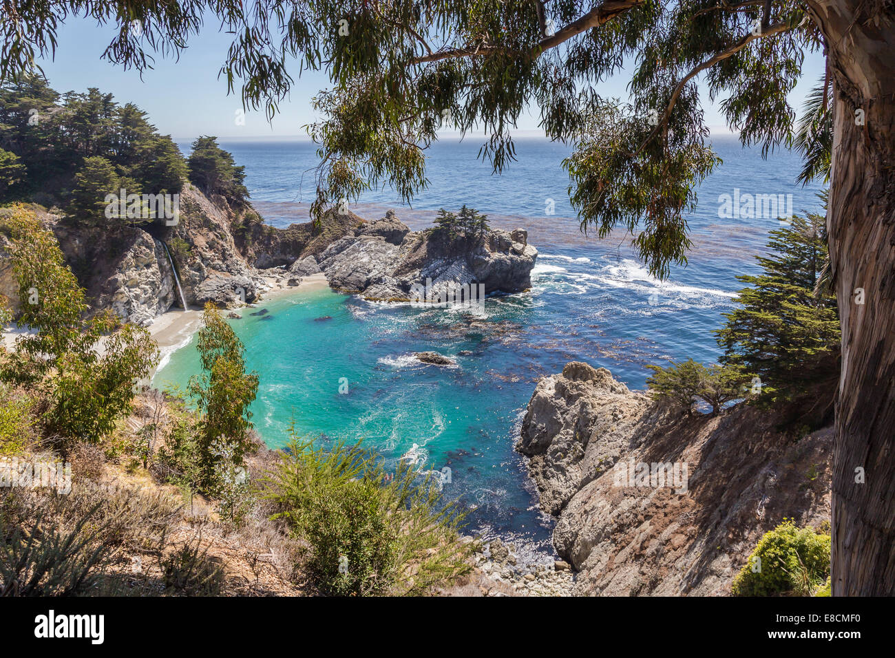 McWay Falls on the westcoast in california - Stock Image