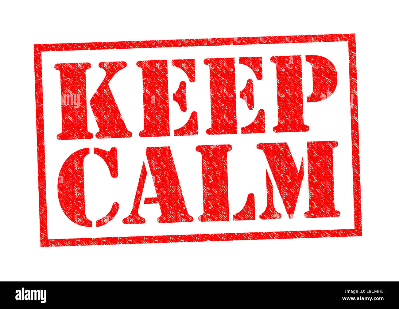 KEEP CALM red Rubber Stamp over a white background. - Stock Image