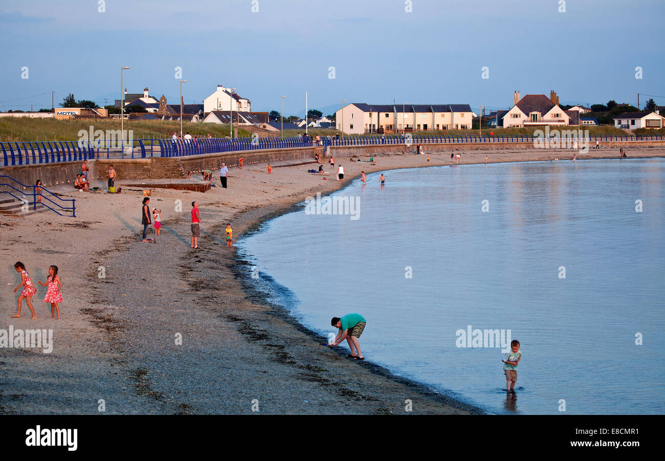 Trearddur Bay seaside resort late evening summer on the western coast of Holy Island part of the Isle of Anglesey - Stock Image