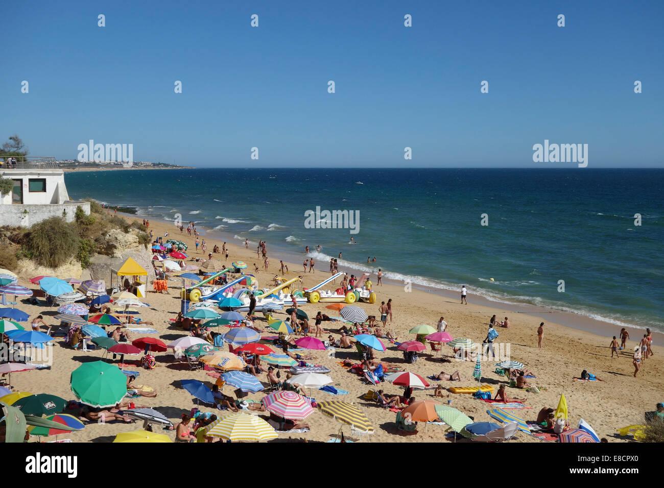 Armação de Pêra beach in the Algarve, Portugal, Europe - Stock Image