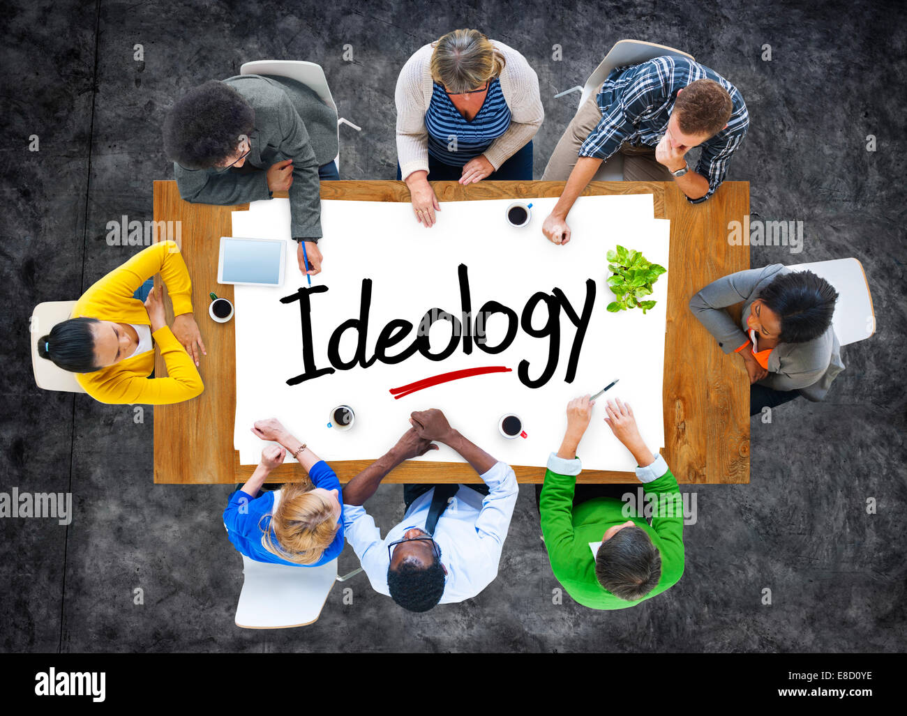 Group of People Brainstorming about Ideology Concept - Stock Image