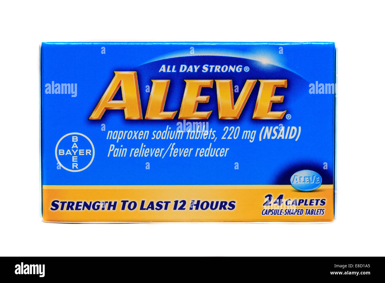 Aleve Naproxen Sodium Tablets Stock Photo 74045165 Alamy
