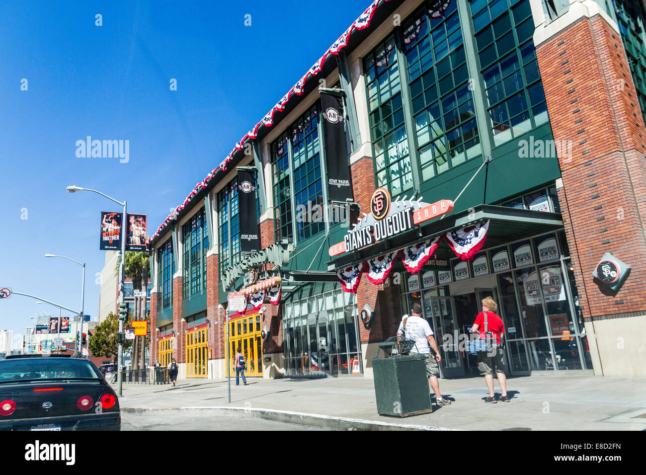 AT&T Ballpark in San Francisco home of the San Francisco Giants who in 2014 are in National League Division - Stock Image
