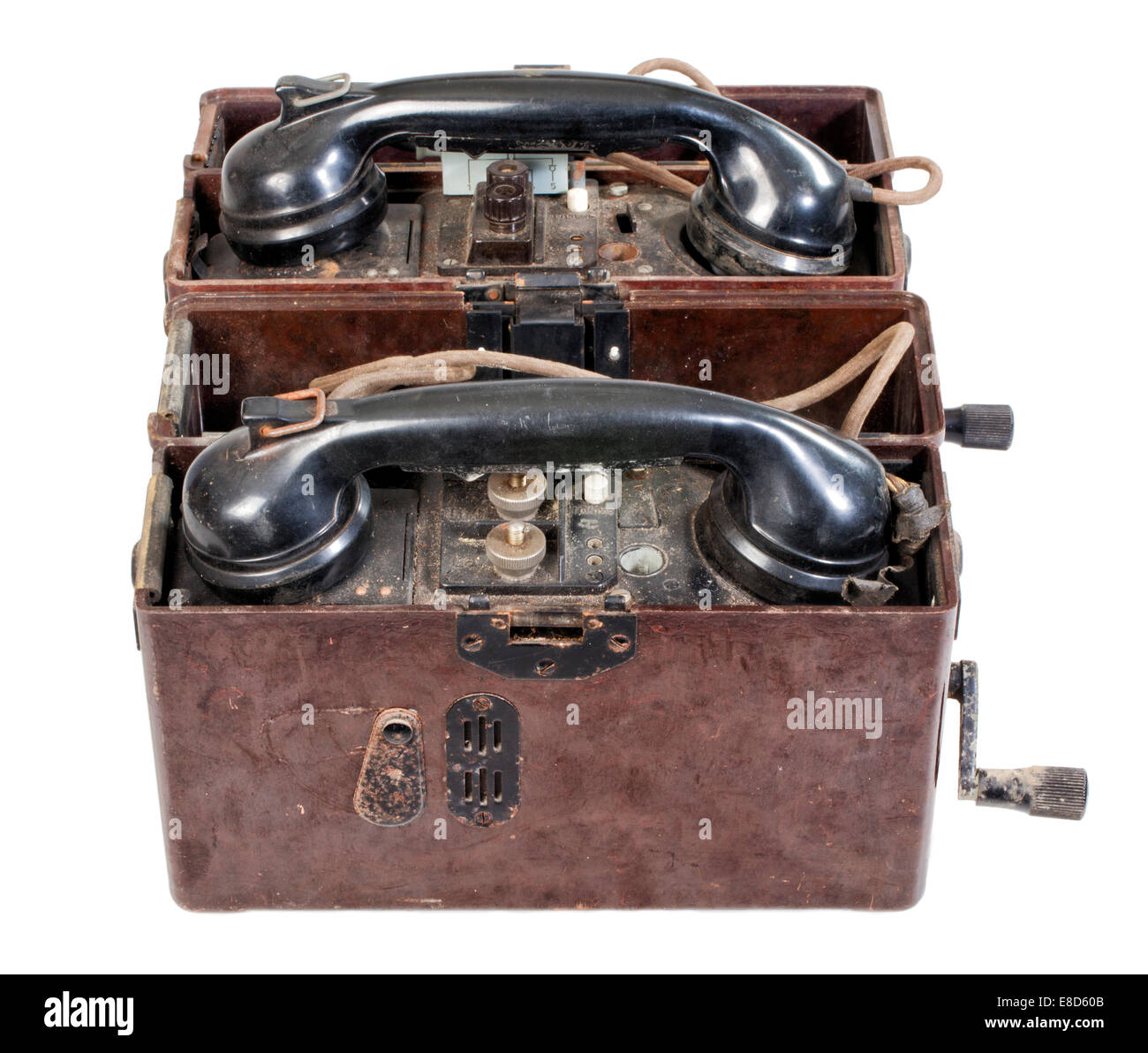 Field telephone, German Wehrmacht, World War II - Stock Image