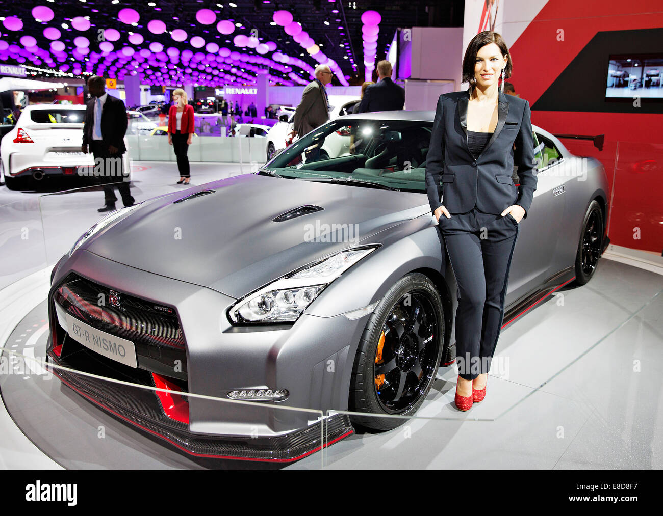 Concept Car Nissan GT R Nismo Was Presented During The International Motor  Show In Paris