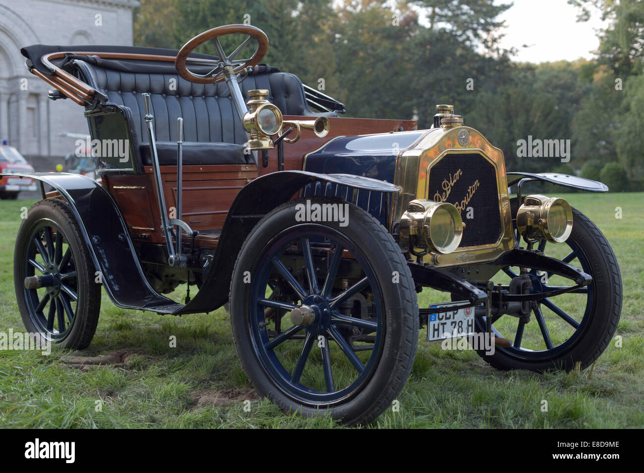 Vintage car, De Dion-Bouton, agricultural machinery exhibition, Bückeburg, Lower Saxony, Germany - Stock Image