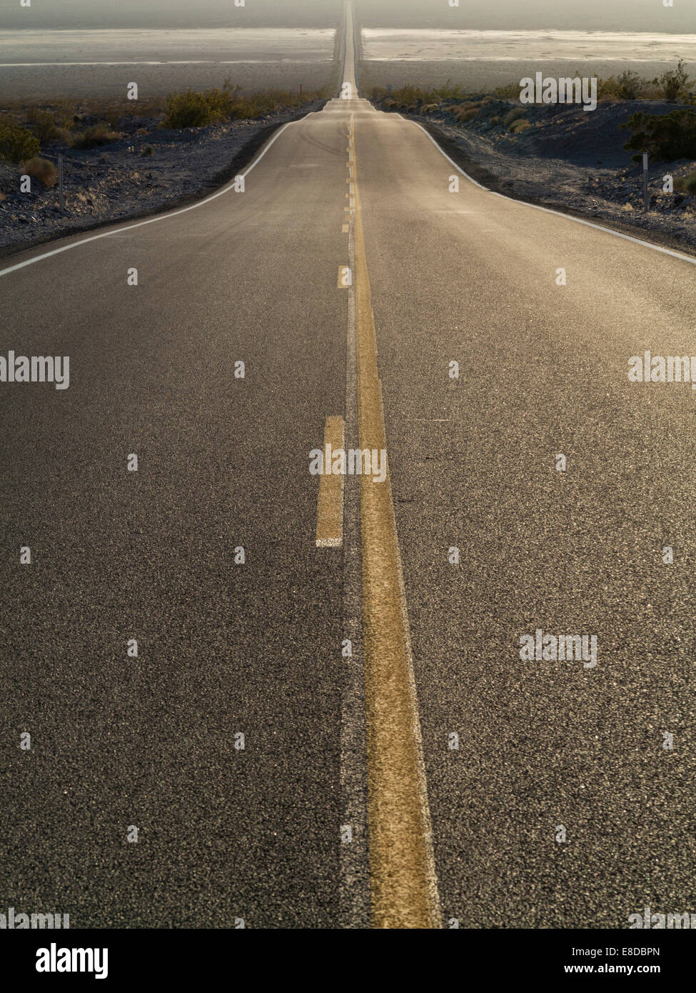 California State Route 190, near Panamint Springs, Panamint Valley, Death Valley National Park, California, USA Stock Photo