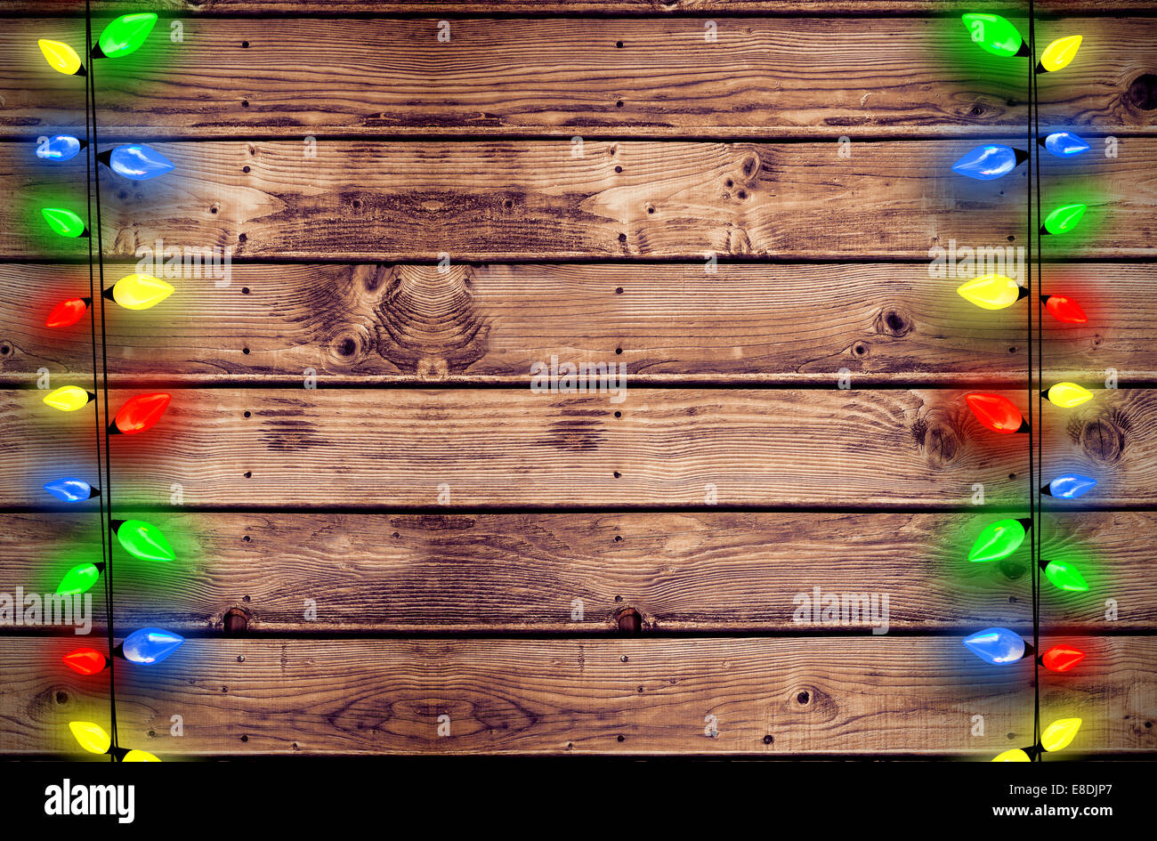 Composite image of decorative lights hanging in a shape Stock Photo