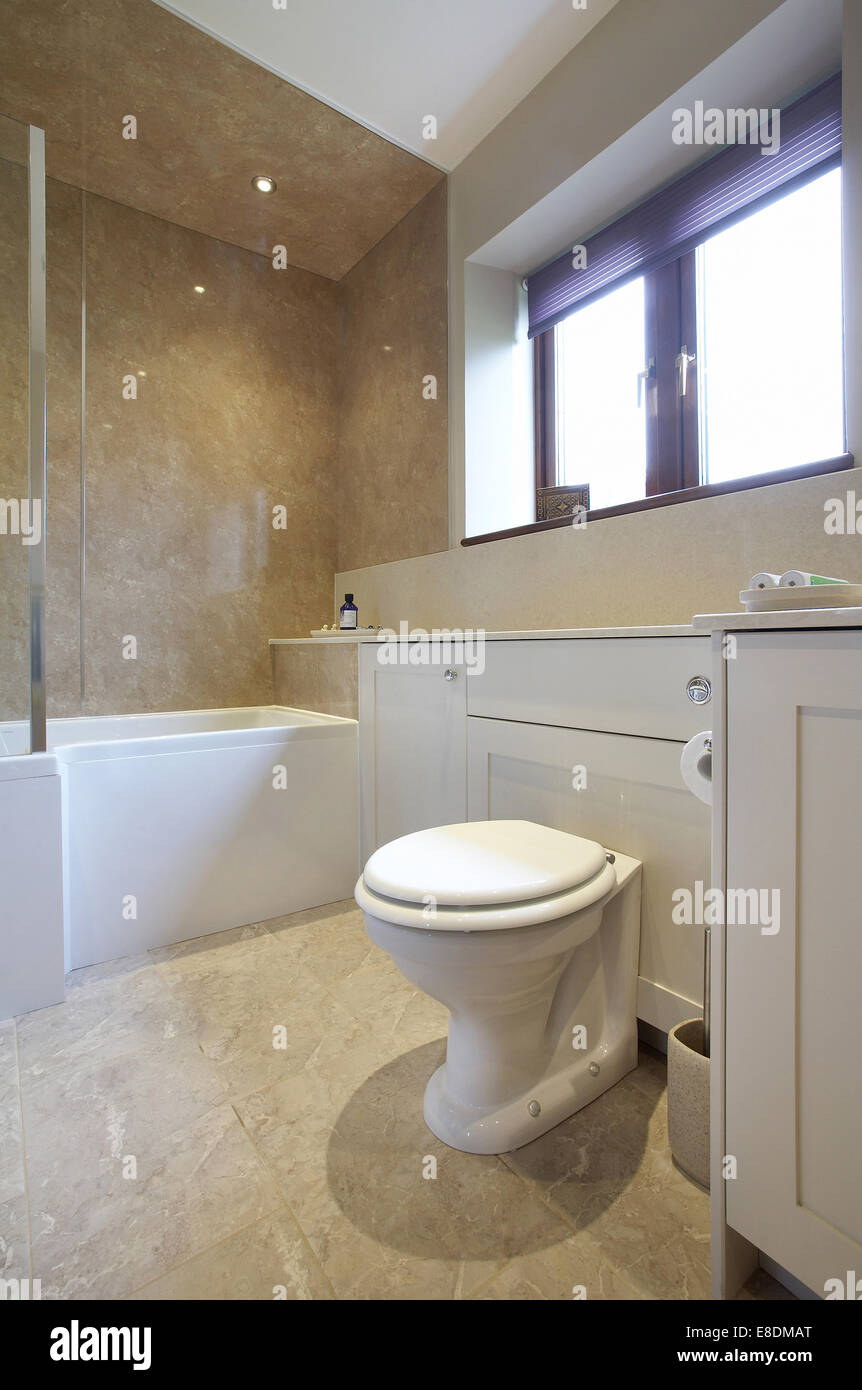 A Modern Stylish Bathroom Interior With Shower In A Home In The UK   Stock  Image