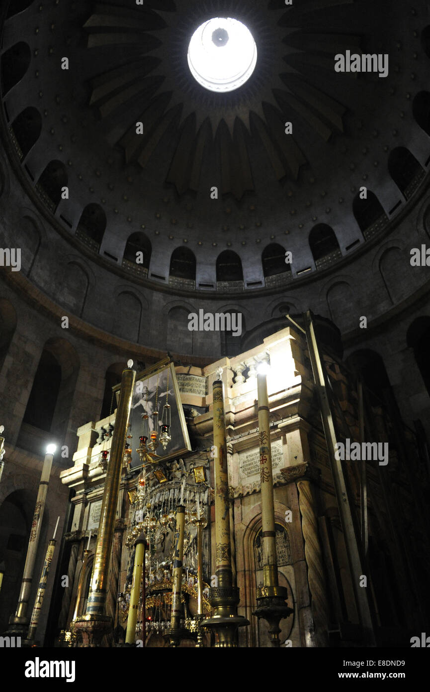 Israel. Jerusalem. The Tomb of Christ at The Holy Sepulchre. - Stock Image