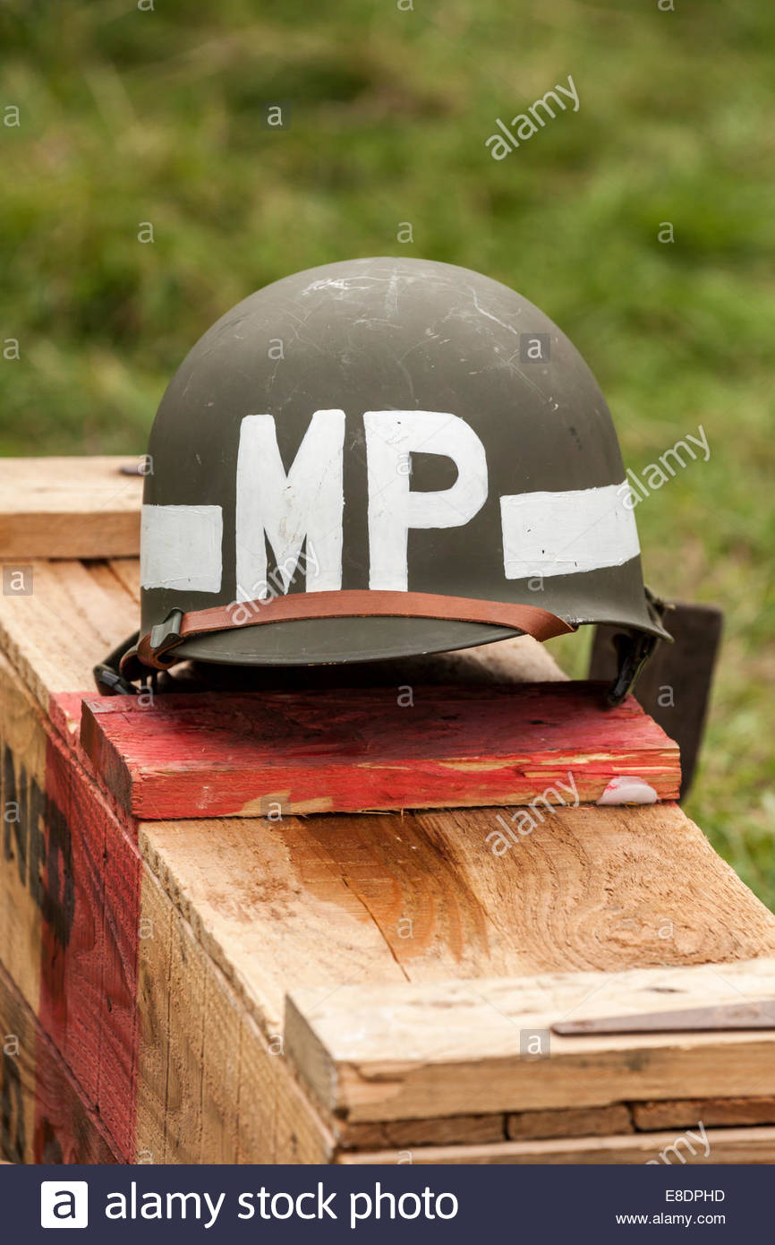 WW2 US Army Military Police Helmet Stock Photo: 74061833 - Alamy