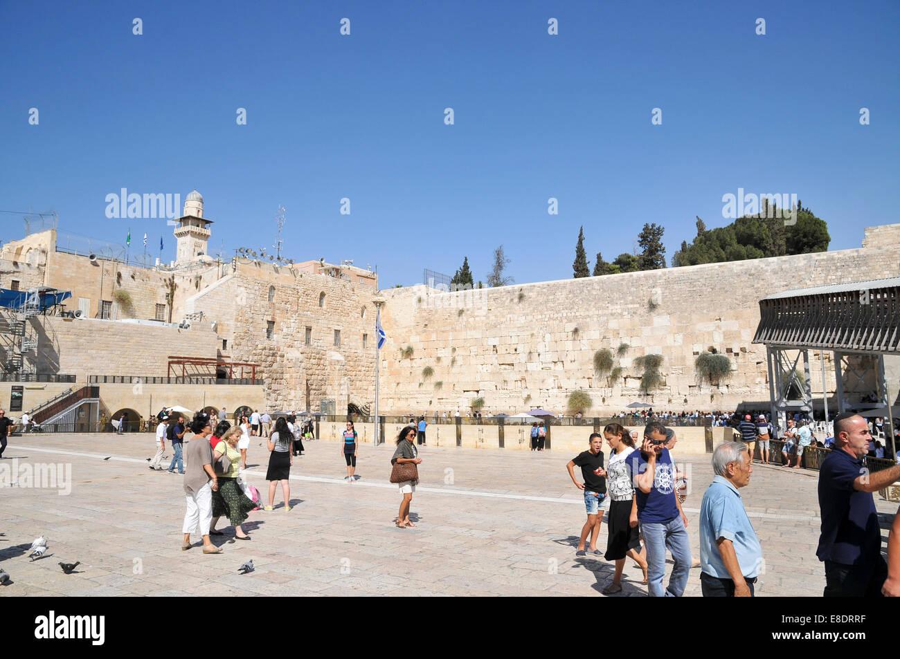 The wailing wall, Old City, Jerusalem, Israel - Stock Image