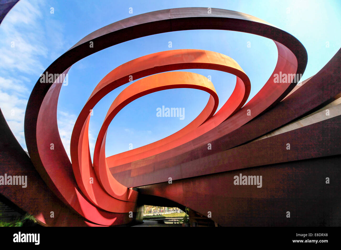 Exterior of the Design Museum Holon, Israel designed by Israeli architect and industrial designer Ron Arad in cooperation Stock Photo