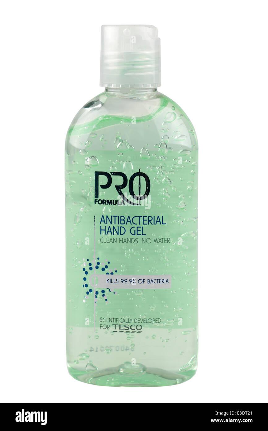 Bottle off Pro Formula antibacterial hand gel cleaner no water kills 99.9 percent of bacteria - Stock Image