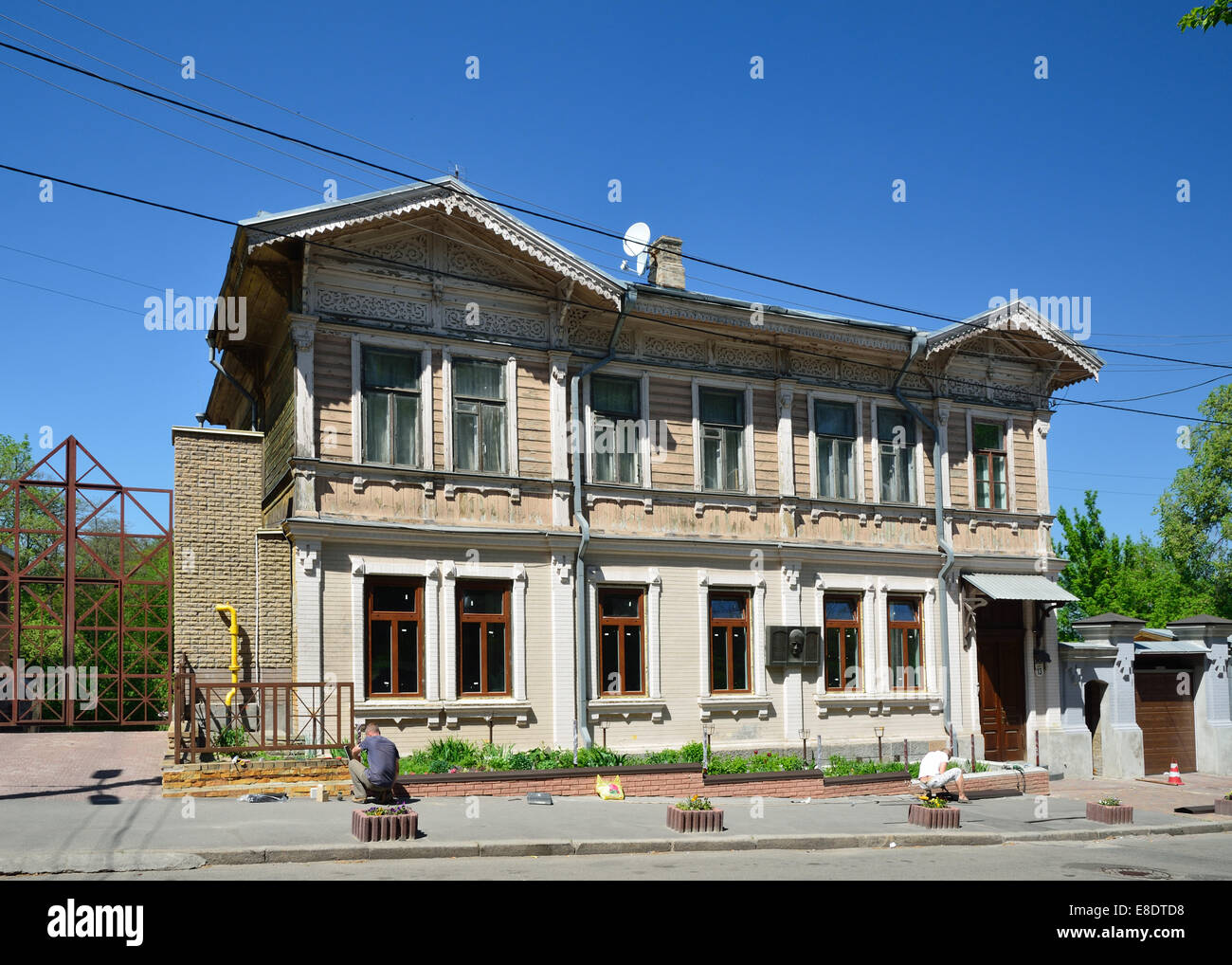Old-time townhouse restored - Stock Image