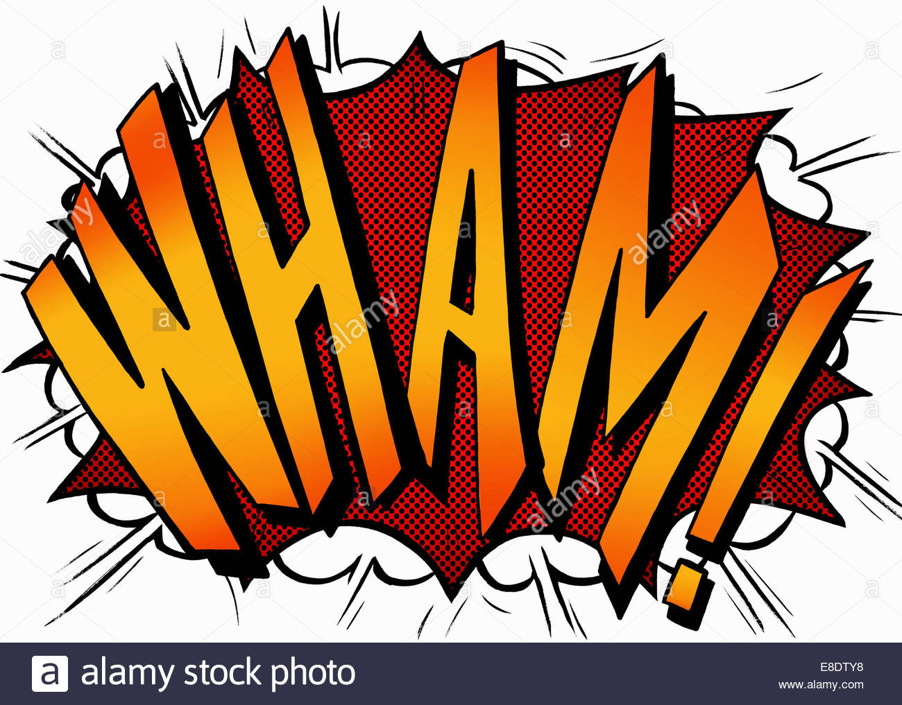 Wham Comic Book Text Sound Effect Stock Photo 74063676