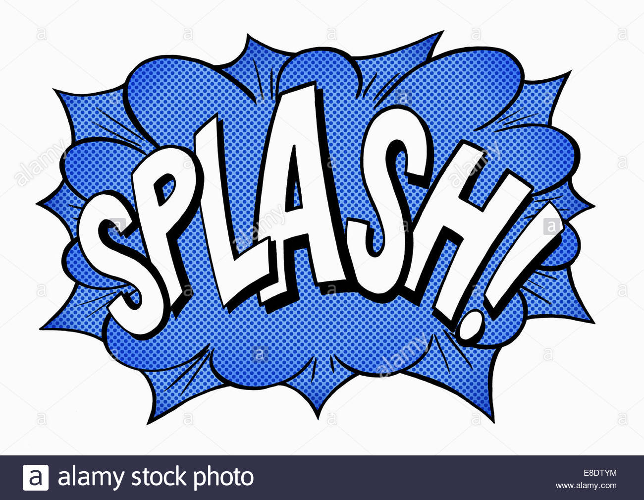 splash comic book text sound effect stock photo 74063688 alamy