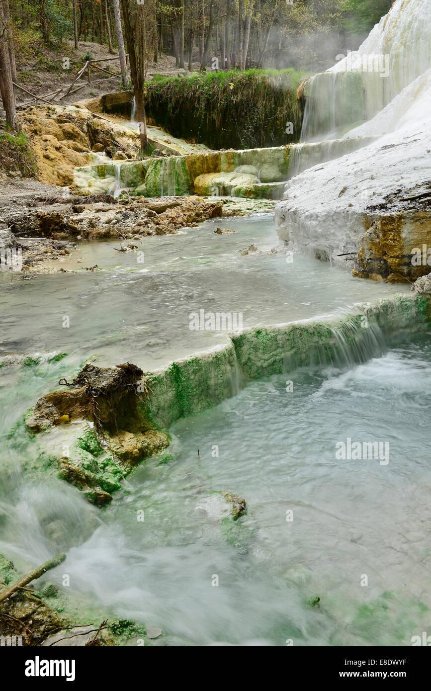 Bagni San Filippo Toscana Amiata Waterfall Terme Hot