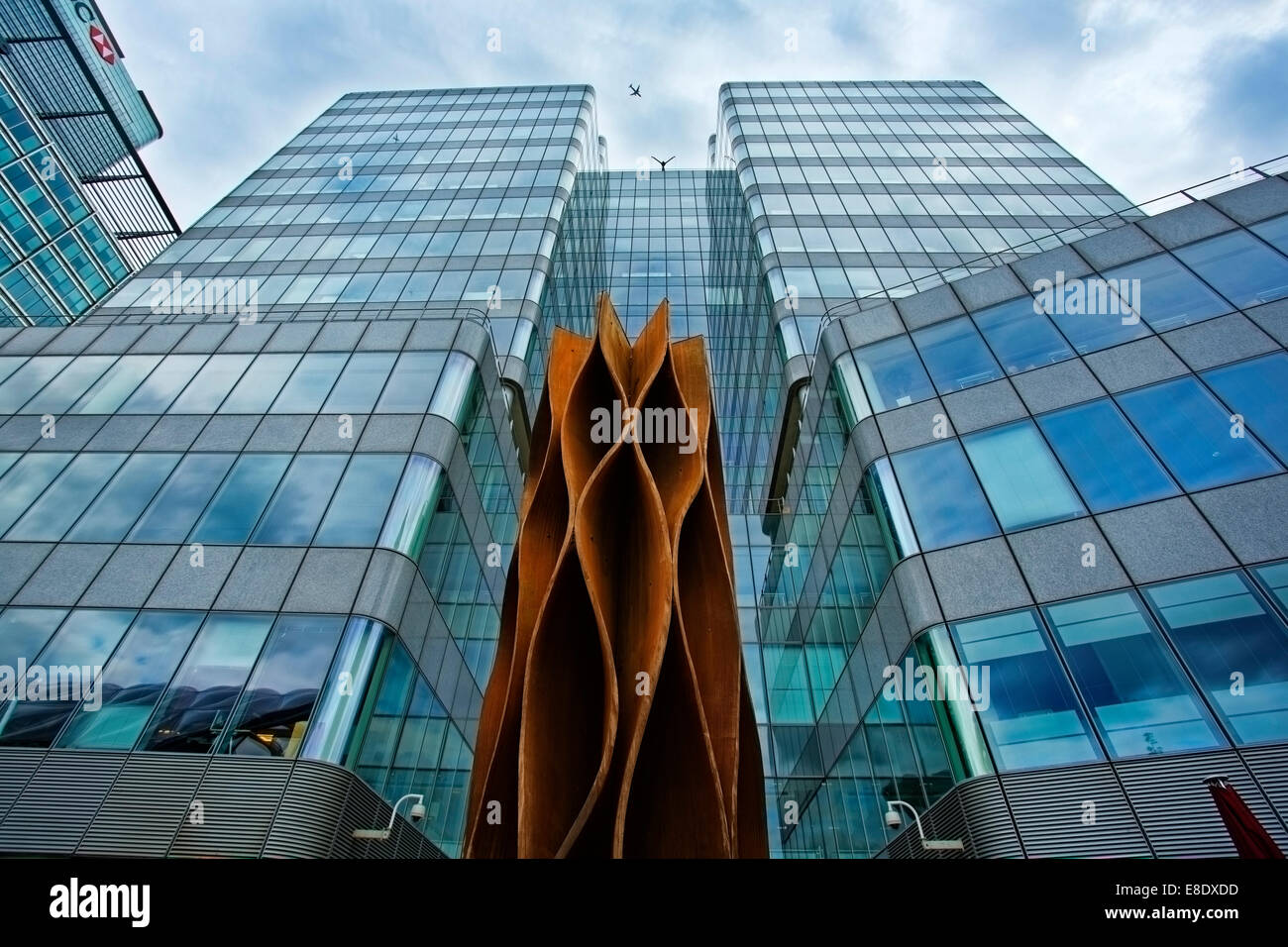 High rise buildings in the London Docklands aria of London - Stock Image