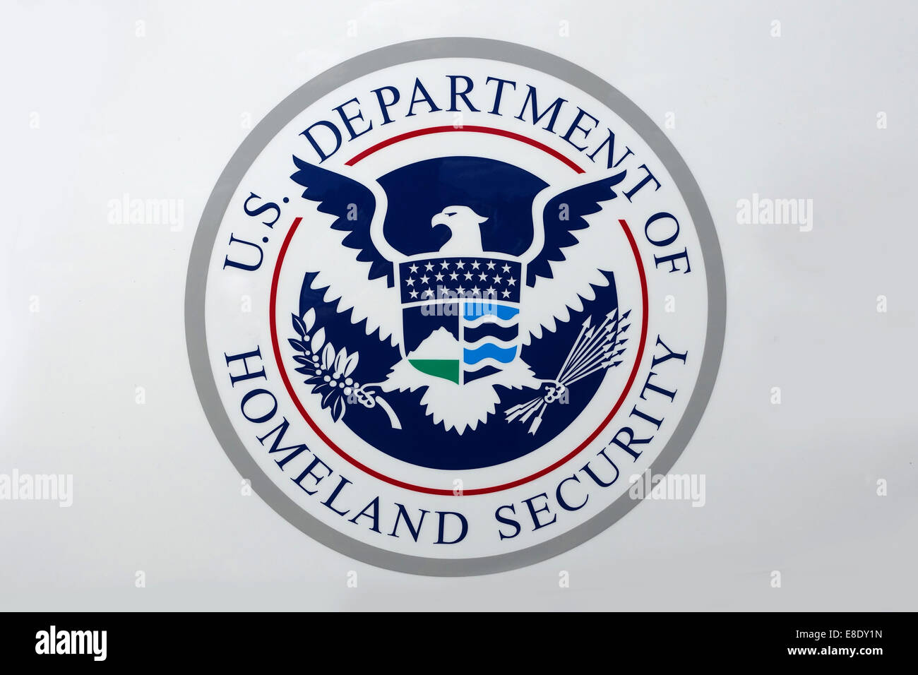 Seal of the U.S. Department of Homeland Security DHS Federal Government Stock Photo