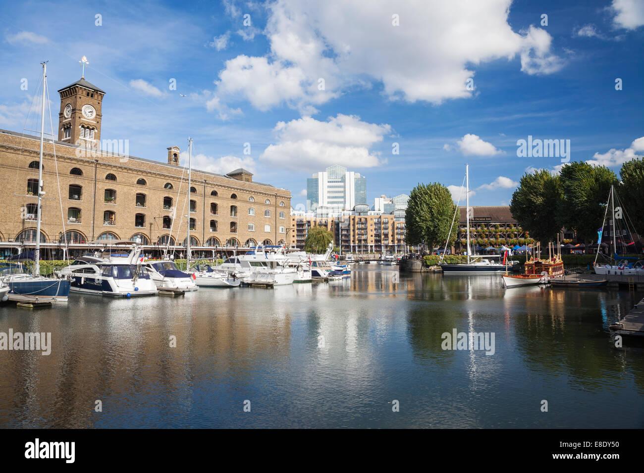 St. Katharine's Docks, London, England, UK - Stock Image