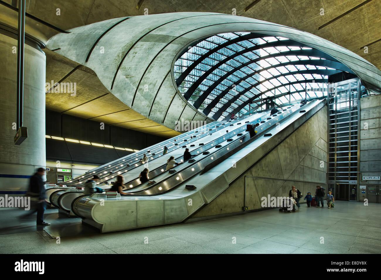 London Docklands station - Stock Image