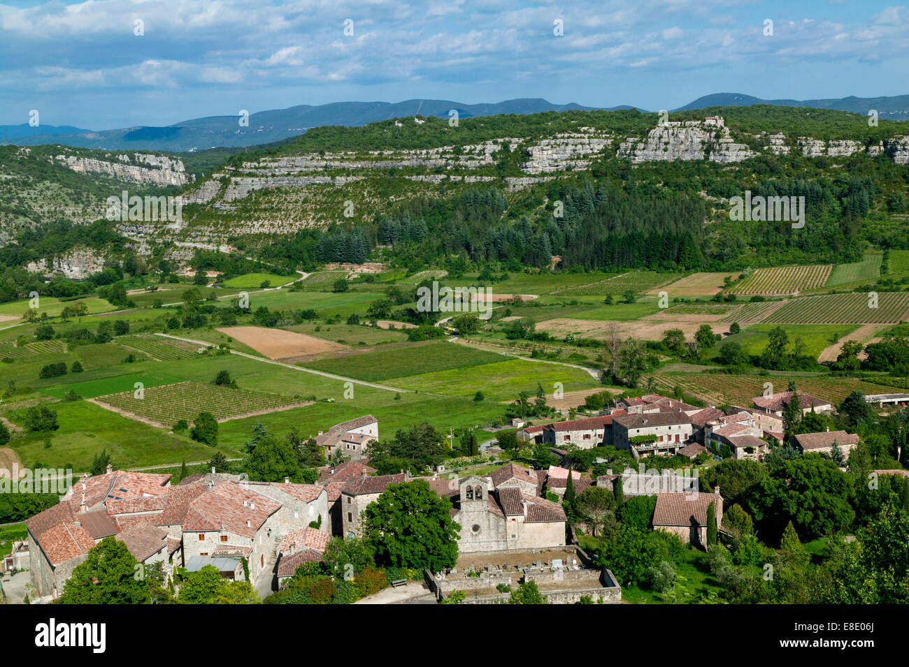 Chassagnes, Valley Of Chassezac,Ardeche,Rhone Alpes,France - Stock Image