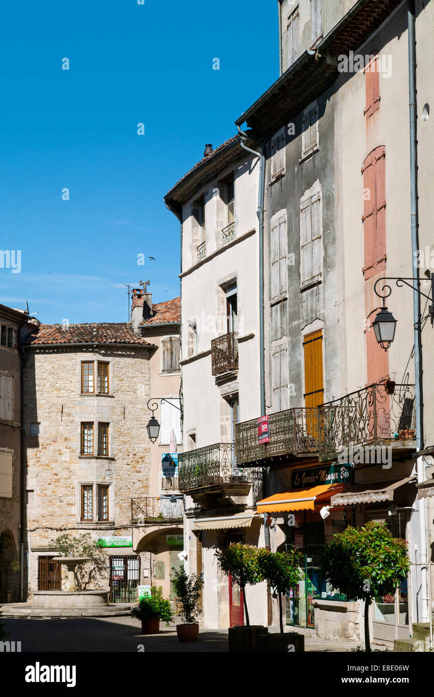 Les Vans, Rhone Alpes, Ardeche,France - Stock Image