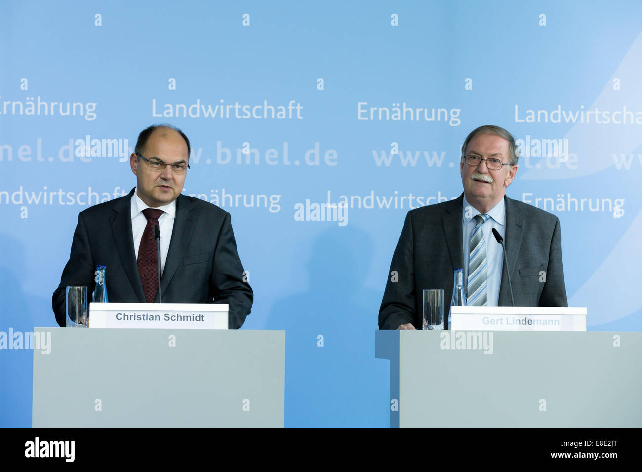 Berlin, Germany. 6th October, 2014. Under the management of former Minister of Agriculture Gert Lindemann from Lower - Stock Image