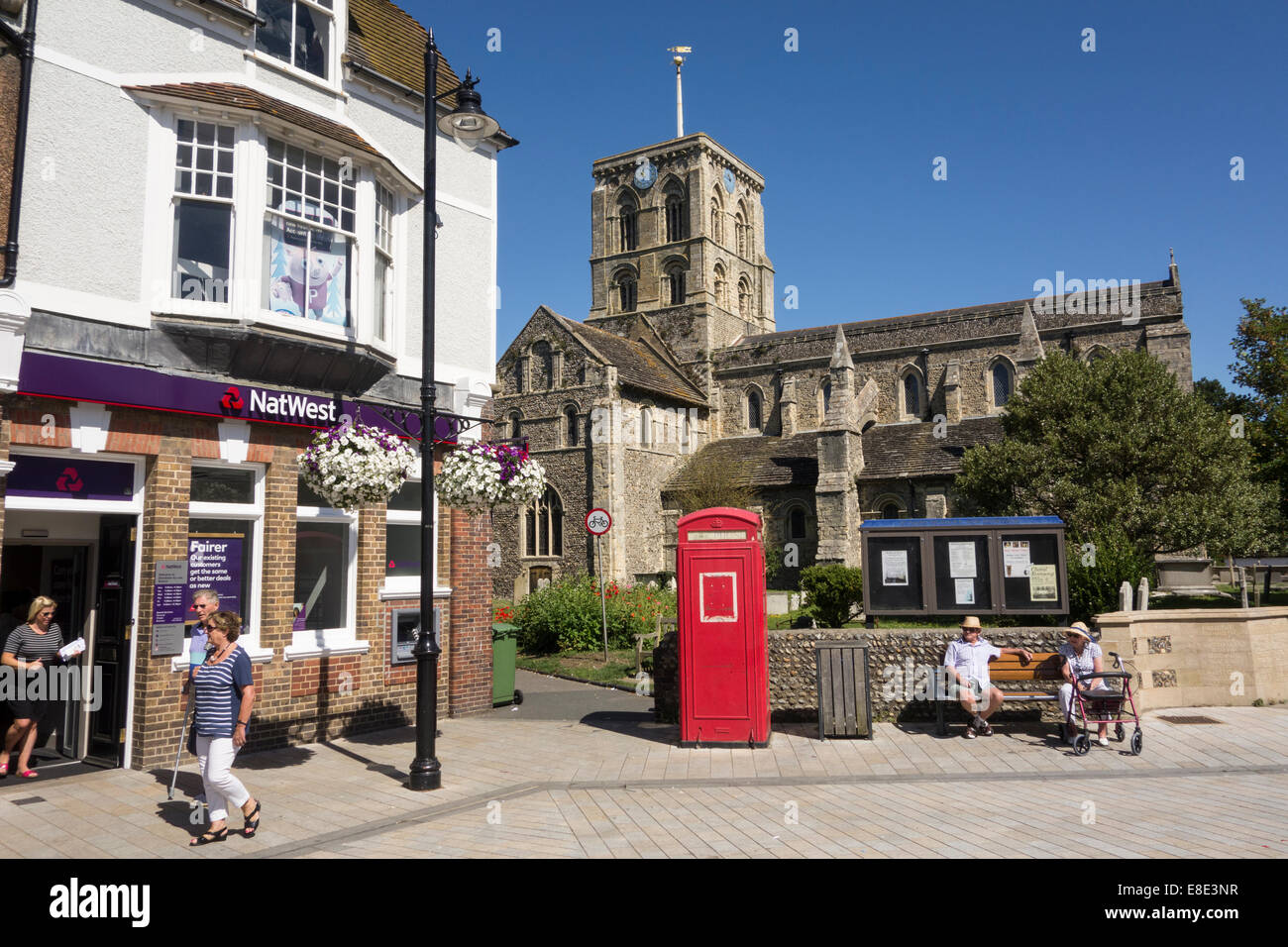 street in small English town of Shoreham near Brighton in county of Sussex on the south coast of Southern England Stock Photo