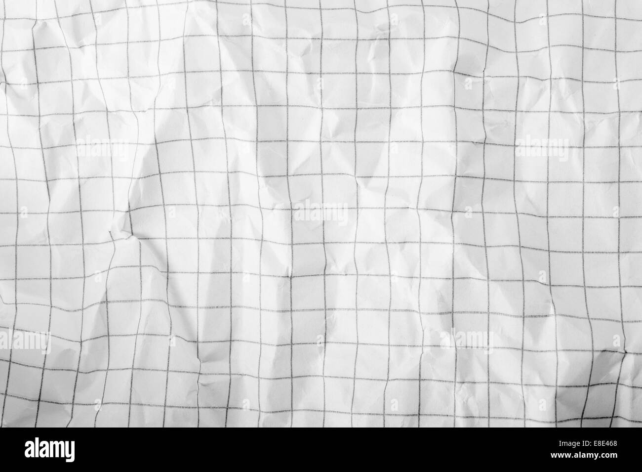 Background and texture of  paper Crumpled - Stock Image
