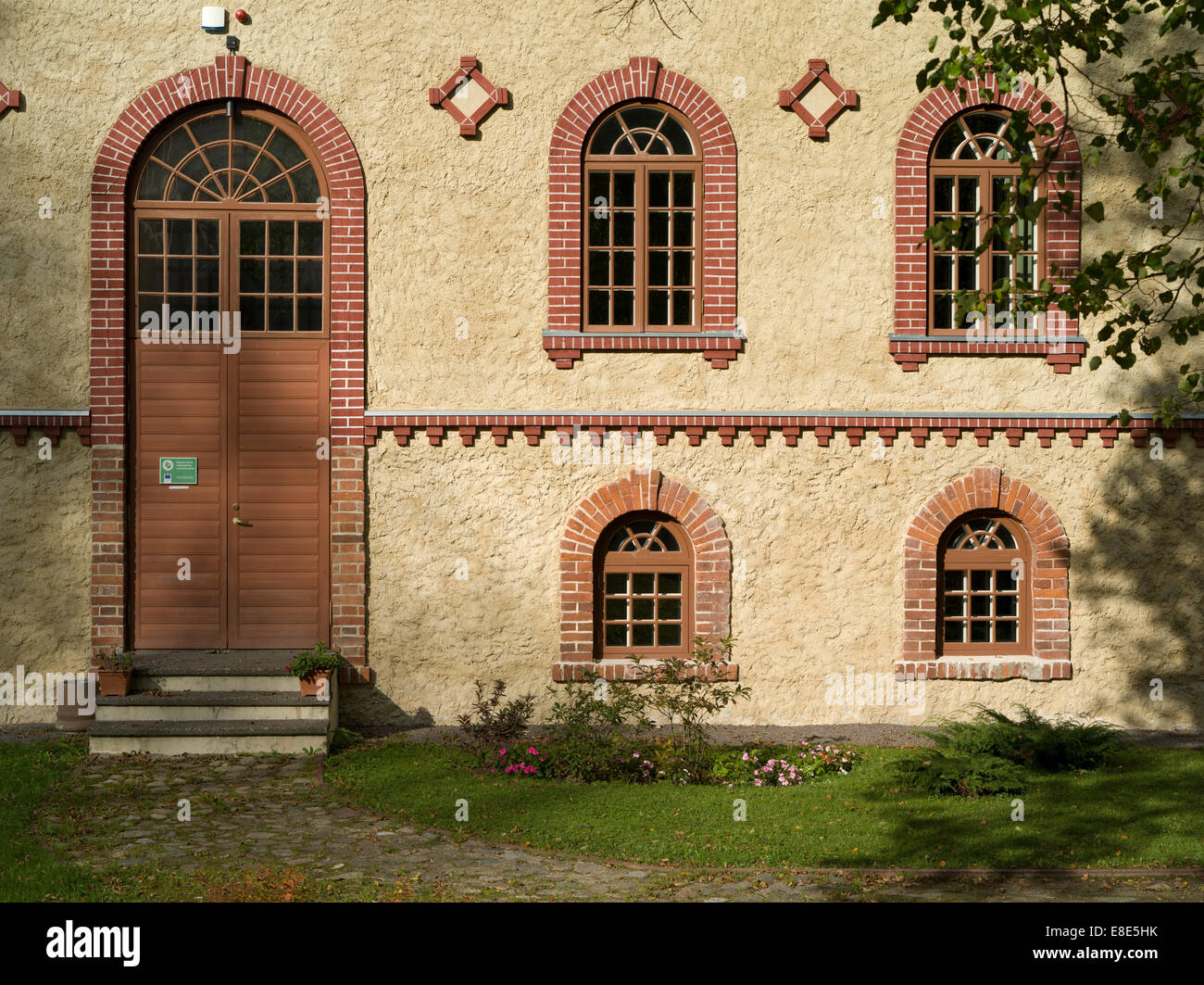 Facade Of The Mooste Distillery Guesthouse Auxiliary Building Of The Mooste Manor. Estonia Estland EU - Stock Image