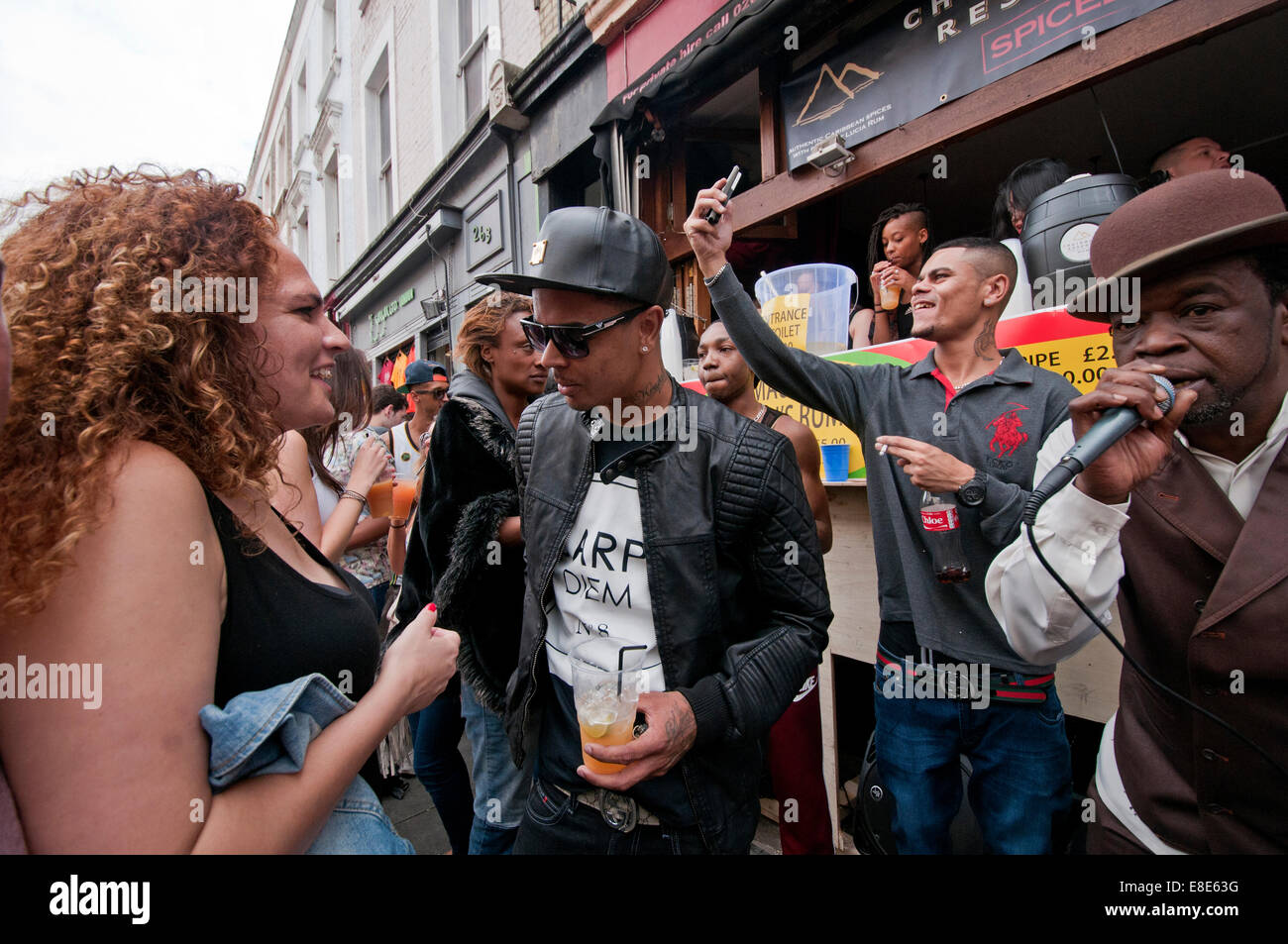 Annual Notting Hill Carnival in London 2014 - Stock Image