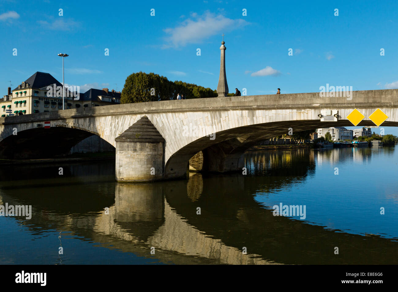 The River Oise, Compiegne, Picardy, France Stock Photo