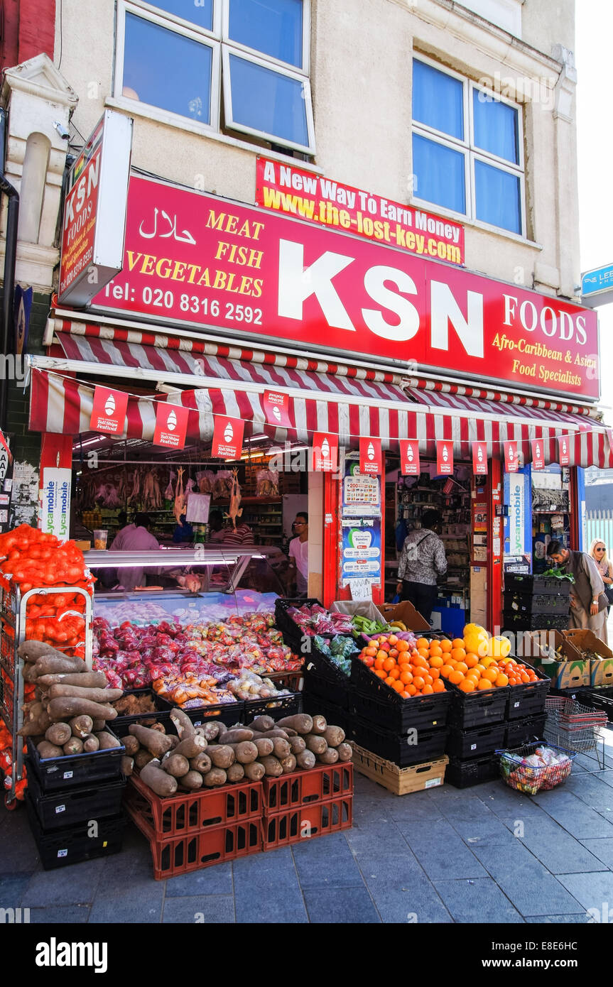A grocery store in South London England United Kingdom UK - Stock Image