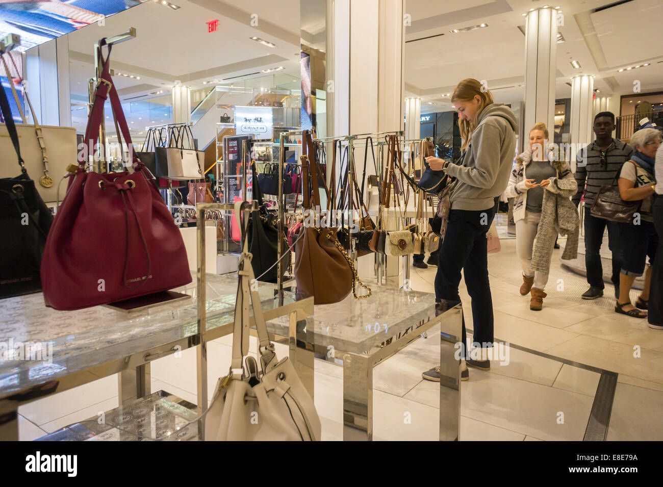 d1f3ae3d46bf6c The Michael Kors boutique within the Macy's Herald Square department store  in New York - Stock