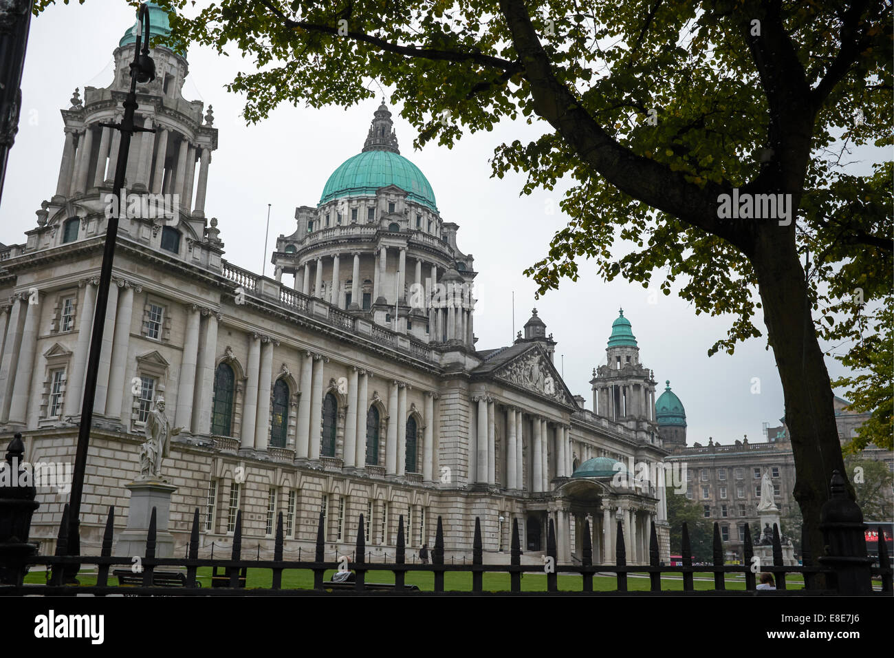 City Hall in Belfast city centre - Stock Image