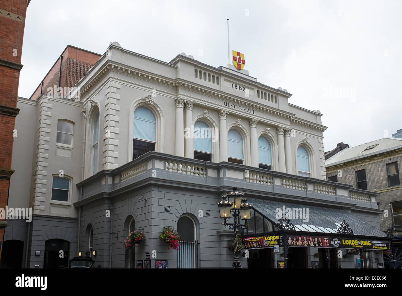 The exterior of Ulster Hall in Belfast city centre - Stock Image