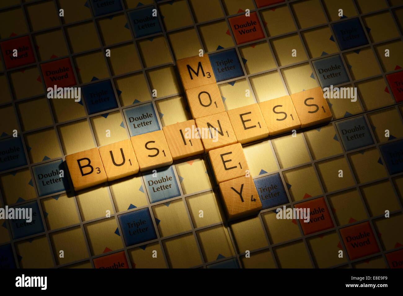 Scrabble Board With Words Stock Photos Scrabble Board With Words